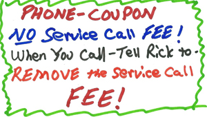 Coupon for plumbing services